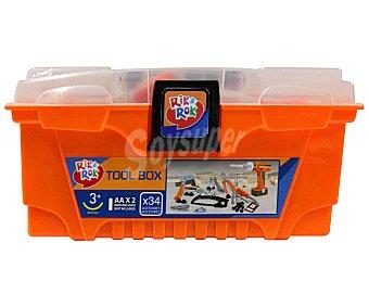 RIK & ROK Caja de Treinta y Cuatro Herramientas 1 Unidad