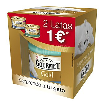 Comida húmeda para gatos adultos Gourmet Gold pescado pack 2 uds x 85 gr 170 gr