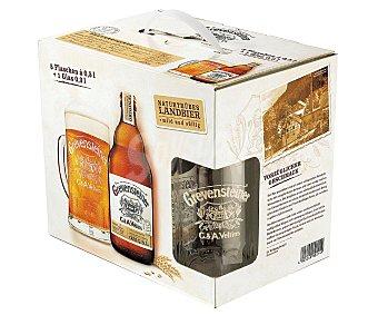 Grevensteiner Cerveza rubia alemana Pack 5 x 50 cl