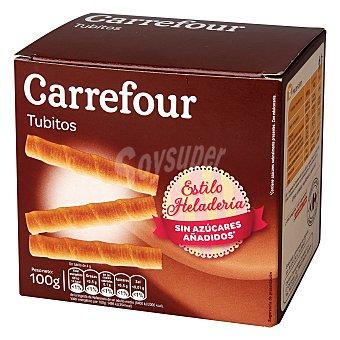 Carrefour Barquillo tubo sin azúcar 100 g