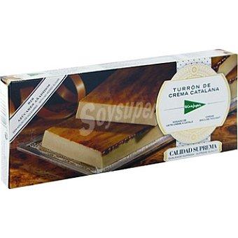 El Corte Inglés Turrón de crema catalana sin azúcar Tableta 300 g