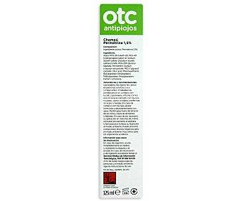 OTC Champú antipiojos permetrina, eficaz en 15 minutos ,otc Antipiojos 125 Mililitros