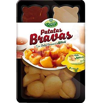 Chovi Cheff Patatas bravas con salsa brava & allioli Envase 350 g