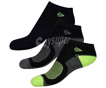 Dunlop Lote de 3 pares de calcetines tobilleros para mujer talla 39/42.