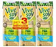 Zumo de piña y soja de origen 100% vegetal Pack 3 briks x 25 cl Vivesoy