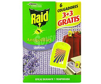 Raid Antipolilla Lavanda 3+3 Unidades