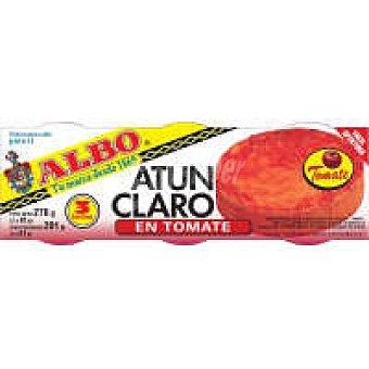 Albo Atún claro en tomate Pack 3x80 g