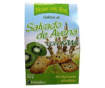 HIJAS DEL SOL Galletas de salvado de avena con kiwi 250 gramos