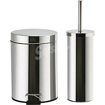 Unit Set de escobillero + Cubo para baño