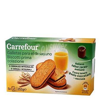 Carrefour Galletas para el desayuno chocolate 253 g