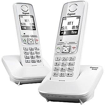 Gigaset Teléfono dúo inalámbrico Dect en color blanco A420