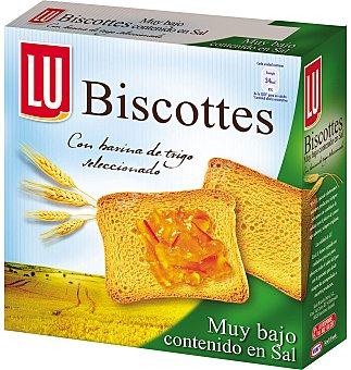 Lu Pan biscote sin sal 34 UNI