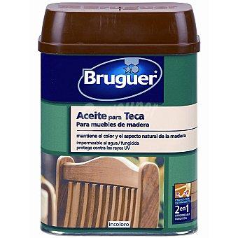 Bruguer Aceite para teca incoloro para muebles de madera 750 ml