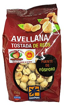 Casa Pons Avellana tostada de reus Paquete de 250 g