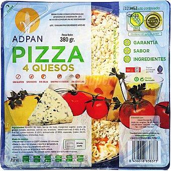 Adpan Pizza 4 quesos sin gluten sin huevo Envase 380 g