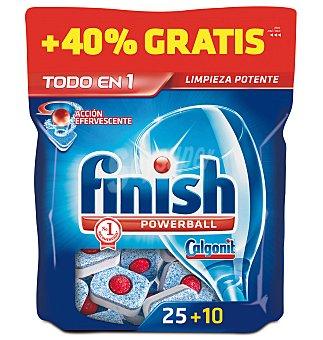 Finish Detergente lavavajillas maquina pastillas todo en 1 regular 25+40%