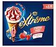Cono de helado de fresa y nata sirope de fresa extréme de Nestlé 6 x 120 ml SON