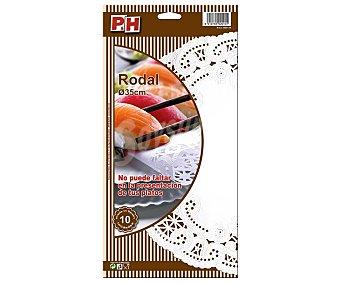 P & H Rodal blanco 35 cm Estuche 10 unidades