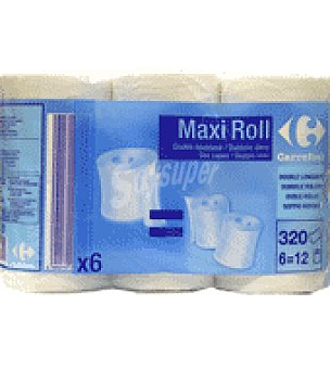 Carrefour Papel higiénico ' Maxi Roll ' 6 ud