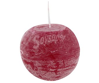 Auchan Vela con forma de bola de 100 milímetros, con acabado rústico de color rojo 1 unidad