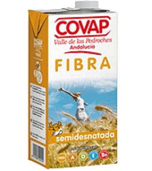Covap Leche Semidesnatada con fibra Brik 1 litro
