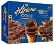 Helado cono gold chocolate Pack 4 x 110 ml  Extrême Nestlé