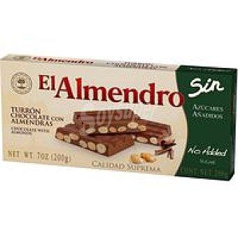 El Almendro Turrón chocolate-almendras sin azúcar Caja 200 g