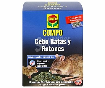 COMPO Cebo ratas y ratones 300 Gramos