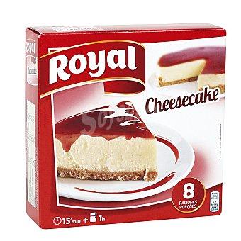 Royal Pastel de queso para preparar con sirope de fresa 8 raciones estuche 325 g