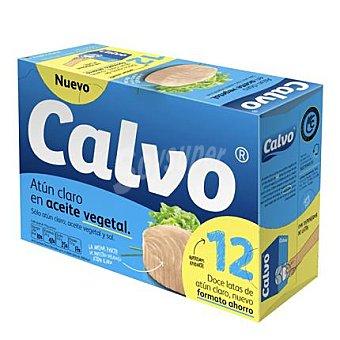 Calvo Atún Claro en aceite vegetal Pack de 12x52 g