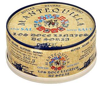 Los Doce Linajes de Soria Lata de mantequilla con sal 250 g