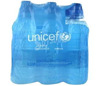 UNICEF Agua Mineral Pack 6 unidades de 33 Centilitros