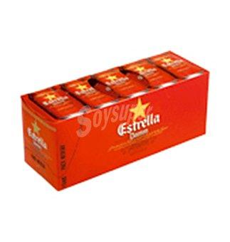 Estrella Damm Cerveza pack nevera lata 10 latas de 33 cl