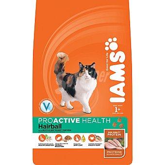 IAMS PROACTIVE NUTRITION ADULT Hairball alimento completo para gato adulto para el control de las bolas de pelo con pollo  bolsa 2,5 kg