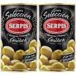 Aceitunas rellenas de anchoas pack 2 latas 150 g  Serpis Gran Selección