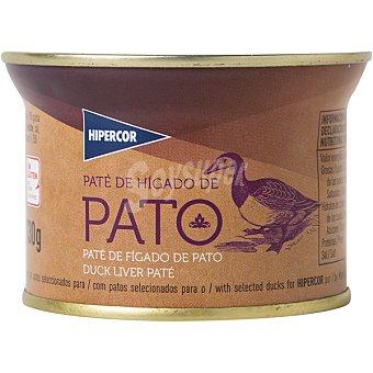 Hipercor Paté de hígado de pato lata 130 g Lata 130 g