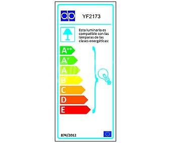 DUPI Lámpara de pie recto color plata para bombillas E27 hasta 60 Wattios, 177x25 centímetros 1 Unidad