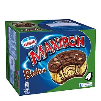 Nestlé Helado Maxibon Brownie 4 ud