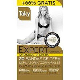 Taky Bandas Cera Depilatoria Corporales Expert 12+4 U