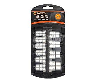 TACTIX Kit de 10 Puntas para Llaves de Carraca Fabricadas en Cromo-Vanadio con Vasos de 3/8, CRV 1 Unidad