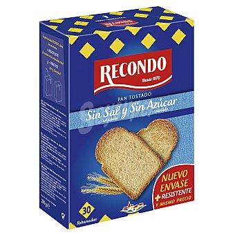 Recondo Pan tostado sin sal-azúcar Paquete 270 g