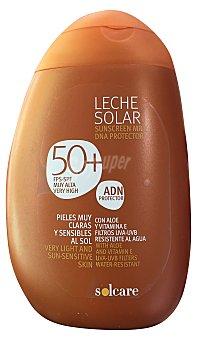 SOLCARE Protector solar corporal F50 (leche) Botella de 250 ml