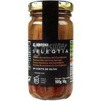Eroski Seleqtia Anchoa en aceite de oliva Frasco 55 g
