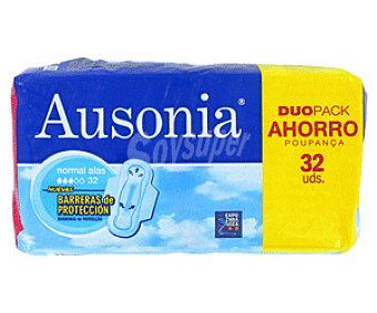 Ausonia Compresas Air Dry Alas Normal Alas 32 Unidades