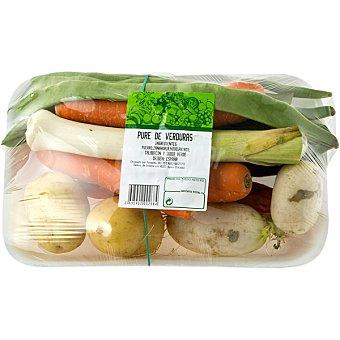 Surtido de Verduras para Puré - Peso Aproximado Bandeja 1 kg