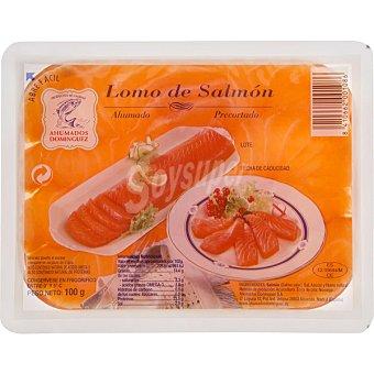 Ahumados Domínguez Lomos de salmón ahumado Bandeja 100 g