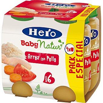 HERO BABY NATUR tarritos de arroz con pollo tierno estuche 940 g pack 4x235g