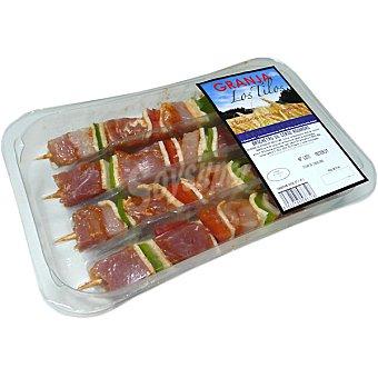 GRANJA LOS TILOS Brochetas de cerdo adobadas bandeja 320 g 4 unidades