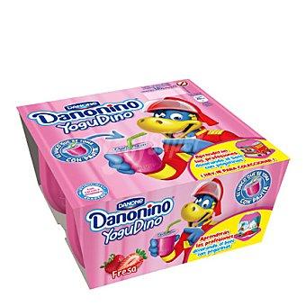 Danonino Danone Yogur sabor fresa Yogudino Pack de 4x85 g