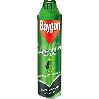 Baygon Insecticida Fórmula Plus para cucarachas y hormigas Spray 600 ml